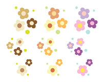 Colorful flower drawing Stock Photography