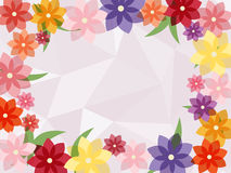 Colorful flower frame with abstract  background Royalty Free Stock Images