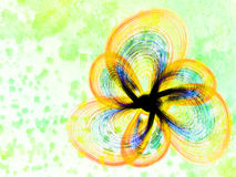 Colorful flower frame abstract Royalty Free Stock Photography