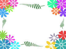 Colorful flower frame background. Abstract colorful flower frame on white background Royalty Free Stock Photography