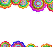 Colorful Flower Frame Royalty Free Stock Images