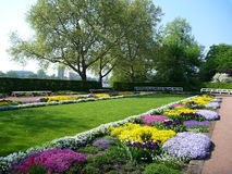 Colorful flower garden in dresden Stock Photo