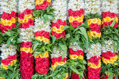Colorful flower garlands background Stock Photo