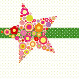 Colorful flower greeting card Stock Images