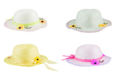 Colorful flower hats. Royalty Free Stock Photography