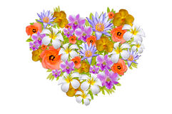 Colorful Flower Heart Stock Photo