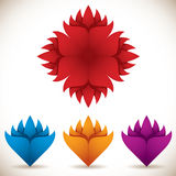 Colorful flower icons. Royalty Free Stock Photo