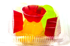 Colorful flower jelly. Close up of colorful flower jelly Royalty Free Stock Image