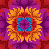 Colorful flower kaleidoscope. Royalty Free Stock Photography
