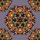Colorful flower kaleidoscope. Seamless pattern of colorful flower kaleidoscope/ Vector illustration Stock Photos