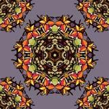 Colorful flower kaleidoscope Stock Photos