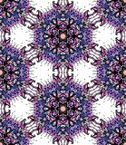Colorful flower kaleidoscope Stock Image