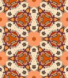 Colorful flower kaleidoscope. Seamless pattern of colorful flower kaleidoscope. Vector illustration Royalty Free Stock Photography