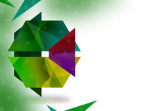 Colorful flower  left side, abstrack background Stock Images