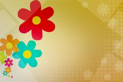Colorful flower left side, abstract background Stock Photography