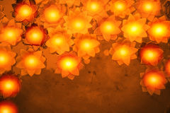 Colorful flower light candle float in the water Royalty Free Stock Photography
