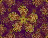 Colorful flower mandala fractal star Royalty Free Stock Images