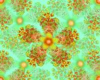 Colorful flower mandala fractal star Royalty Free Stock Photography