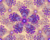 Colorful flower mandala fractal star stock photo