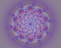 Colorful flower mandala fractal star royalty free illustration