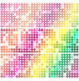 Colorful flower mosaic. Colorful background flower mosaic vector Stock Images