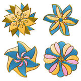 Colorful flower ornaments Stock Images