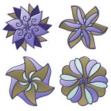 Colorful flower ornaments Royalty Free Stock Photos