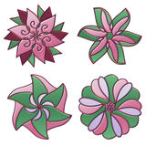 Colorful flower ornaments Stock Photography