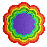 Colorful Flower, Paper Art Stock Photo