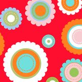 Colorful flower pattern Royalty Free Stock Photos