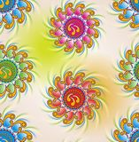 Colorful flower pattern. Abstract design Stock Photography
