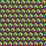 Colorful flower pattern design Royalty Free Stock Image