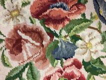 Colorful flower pattern. A colorful flower pattern design on clothing background stock photo