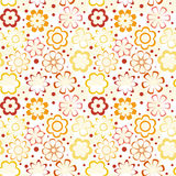 Colorful Flower Pattern. Intricate colorful  pattern of flowers with a touch of retro Royalty Free Stock Photo