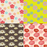 Colorful flower pattern set original Royalty Free Stock Photo