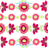 Colorful flower pattern vector background Stock Image