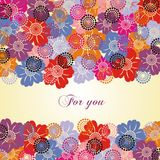 Colorful flower postcard Stock Photo