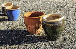 Free Colorful Flower Pots Royalty Free Stock Photos - 60461778