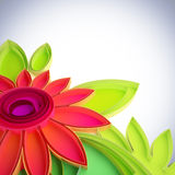 Colorful flower in quilling techniques. Stock Photography
