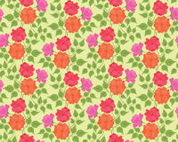 Colorful flower seamless background Royalty Free Stock Photos