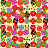 Colorful flower seamless pattern Royalty Free Stock Image