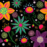 Colorful Flower Seamless Pattern Background vector illustration