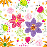 Colorful Flower Seamless Pattern Background Royalty Free Stock Image