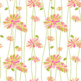 Colorful Flower Seamless Pattern Background Stock Photography