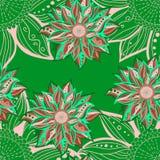 Colorful flower seamless pattern. Floral frame. Vector illustration Stock Image