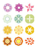Colorful flower set. Royalty Free Stock Photography