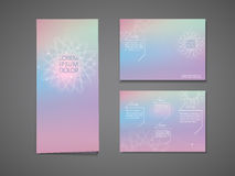Colorful flower shape background tri fold brochure Stock Photos