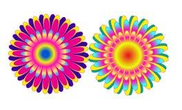 Colorful Flower Shape Design Stock Photos