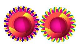 Colorful Flower Shape Design,Fire Work Design Stock Images