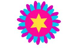 Colorful Flower Shape Design,Fire Work Design Stock Photo
